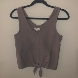Madewell tie front Texture & Thread tank